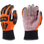 GLOVE HI VIZ ORANGE COTTON PALM IMPACT