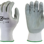 GLOVES GRAY NITRILE PALM COATED-L