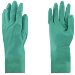 GLOVES - GREEN NITRILE CHEM RESISTANT L ~12