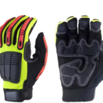 GLOVES HI VIZ YELLOW PADDED PALM