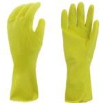 GLOVES LATEX COTTON FLOCK-LINED LARGE ~12