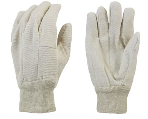 GLOVES - WHITE COTTON-INDUST ~12