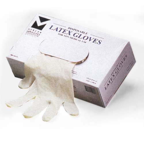 Latex Disposable Gloves (100 per box) - Med